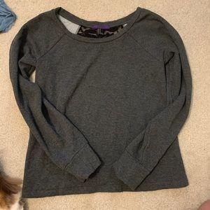 F21 Lace back crewneck sweater